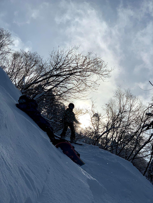 北海道滑雪 手稻滑雪場 黑線