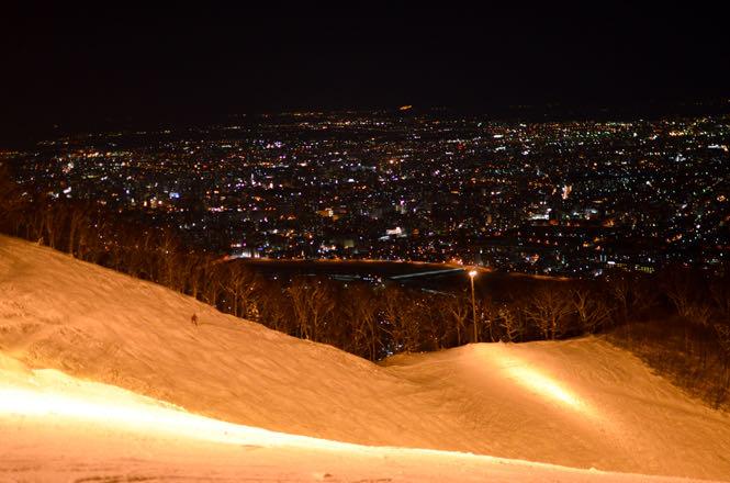 北海道滑雪 藻岩山滑雪場 百萬夜景