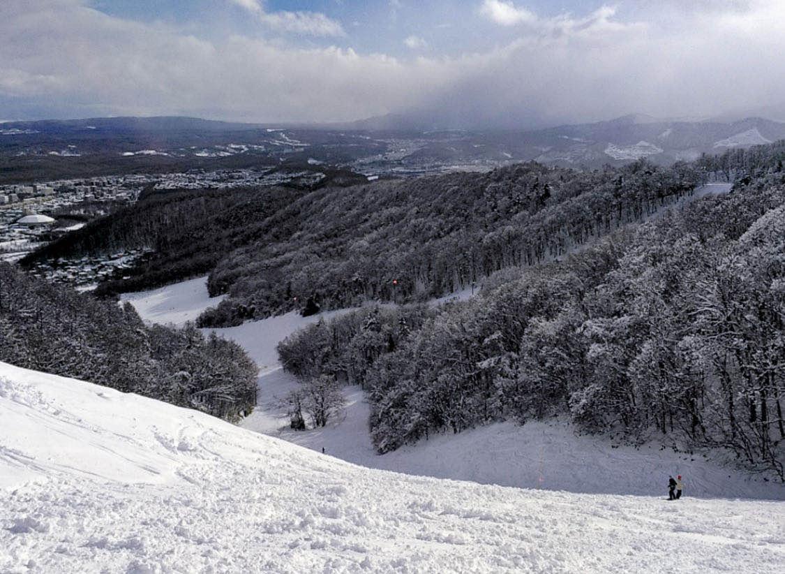 北海道滑雪 藻岩山滑雪場 遠眺