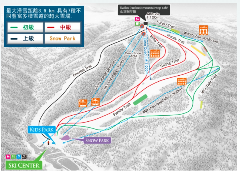 札幌 札幌國際滑雪場雪道介紹