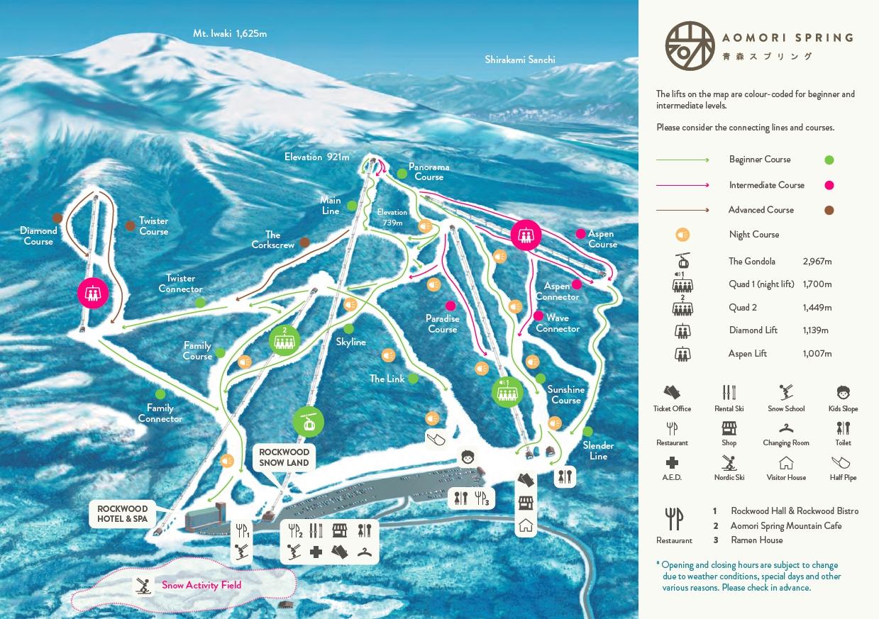 青森之泉滑雪場雪道介紹