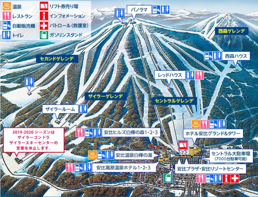 安比高原滑雪場度假村地圖